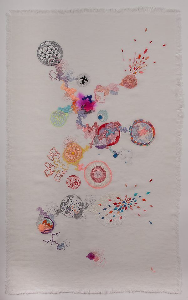 Painting Embroidery 13 by Sabatina Leccia