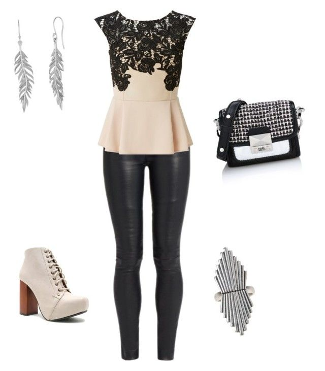 """""""Look fiesta semi informal para cuerpo rectangular"""" by thekryptoniteoffany on Polyvore featuring The Row, Lipsy, Qupid, Karl Lagerfeld and Lucky Brand"""