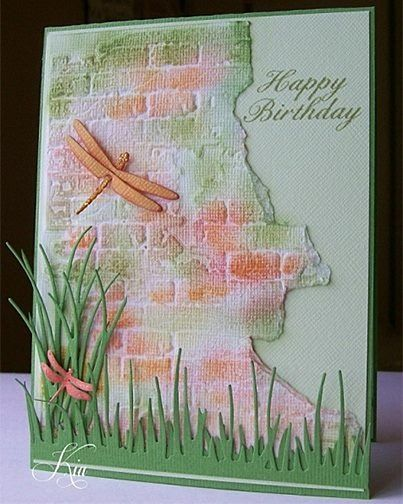 Embossed, direct to paper, diecut