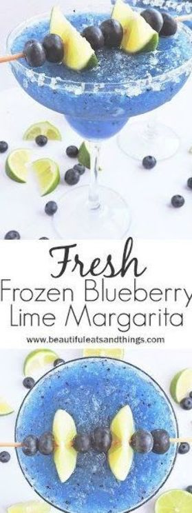 Frische gefrorene Heidelbeer Limette Margarita | Diese frisch gefrorene Heidelbeere Lìme Marga …