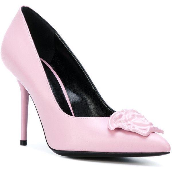 pink versace pumps