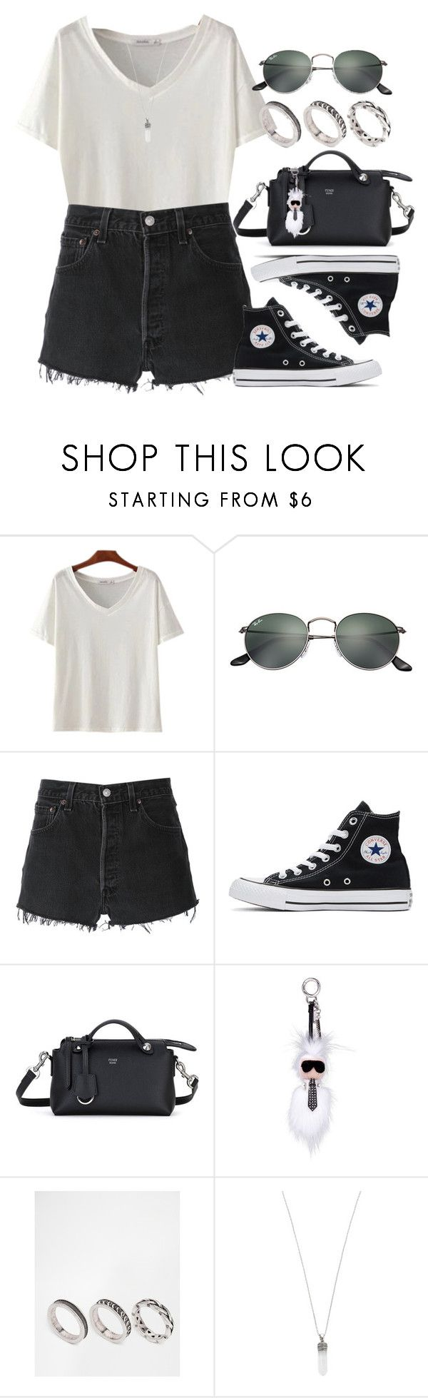 """Sin título #12698"" by vany-alvarado ❤ liked on Polyvore featuring Ray-Ban, RE/DONE, Converse, Fendi, ASOS and Marc Jacobs"