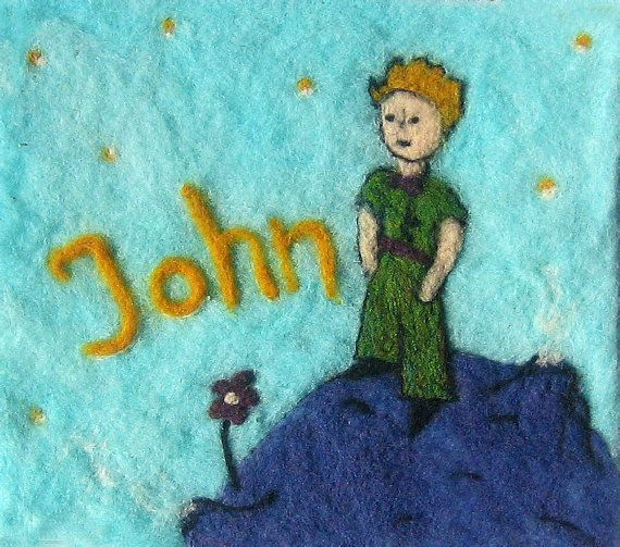 The Little Prince custom nedle felted art by GreenDotCreationsGr, €45.00