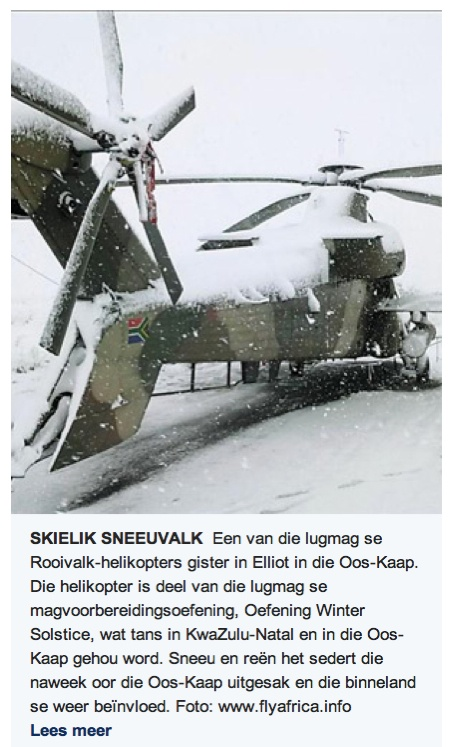Snow Covered Rooivalk