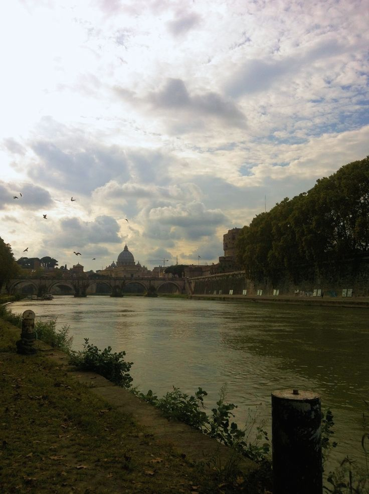 Walking by the Tiber in Rome  copyright: Rabia Lockwood