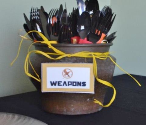 """Hunger Games Weapons   30: Hunger Games Books/Movies / Movie Night """"1st Annual Hunger Games ..."""