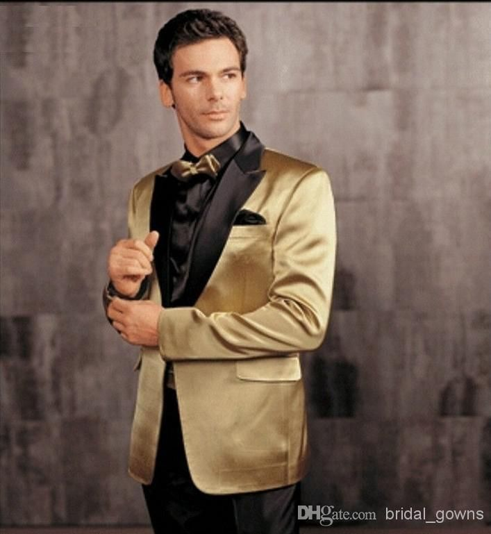 Gold Custom Made Groom Tuxedos Men's Wedding Suits Party Suit Classic Vintage Best Men Prom Suits Men Prom Tux Rentals From Bridal_gowns, $94.45| Dhgate.Com