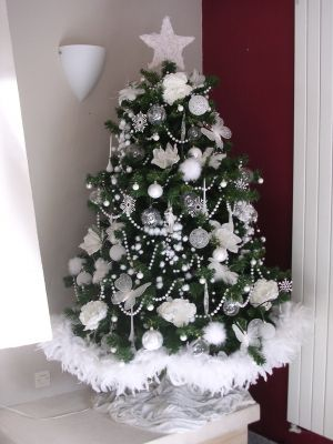 Pinterest the world s catalog of ideas - Sapin de noel decoration blanc ...