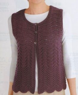 Free Knitting Patterns: Vests knit
