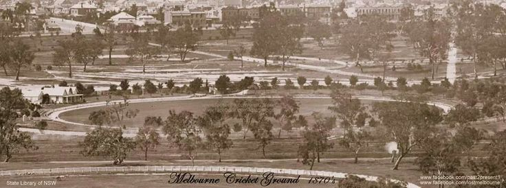 Melbourne Cricket Ground C 1870 state library photo