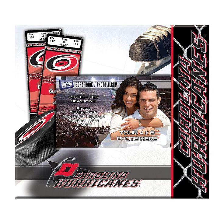 "Carolina Hurricanes 8"" x 8"" Ticket and Photo Album Scrapbook, Multicolor"