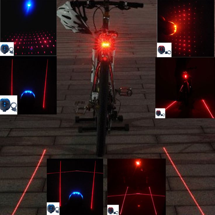 5LED Lumières De Vélo Imperméable Vélo Lumière Arrière Ont 7 Flash Mode Vélo Lumière La Nuit Il Est Sûr Vélo accessoires
