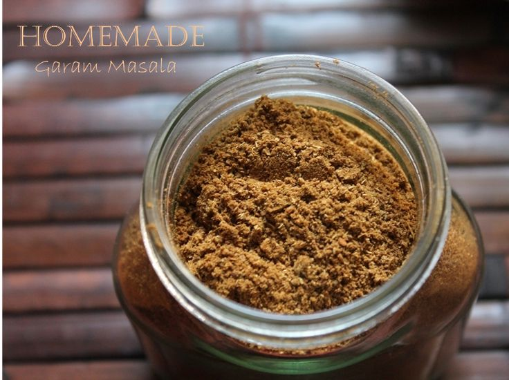 """Homemade Garam Masala Powder - a little different than the one I usually mix up. She says it well """"brightens"""" your curries! SO TRUE!"""