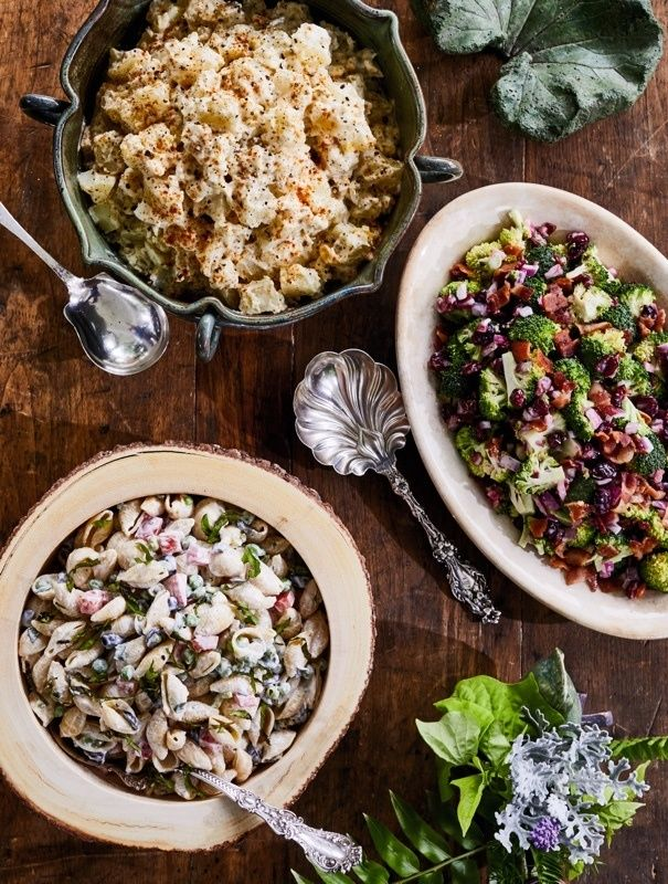 Broccoli Salad Recipe. Here are some simple tips from entertaining expert Vera Stewart — and four easy recipes — to ensure your get-together is a smashing success! Image: Peter Frank Edwards