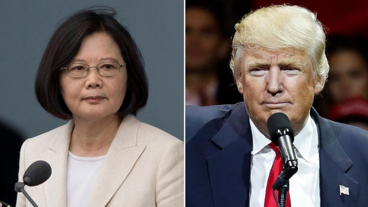 Trump Speaks With Taiwanese President Tsai Ing-Wen, Breaking Policy - ABC News (Trump lies and says Taiwanese President called him--it was the other way around)