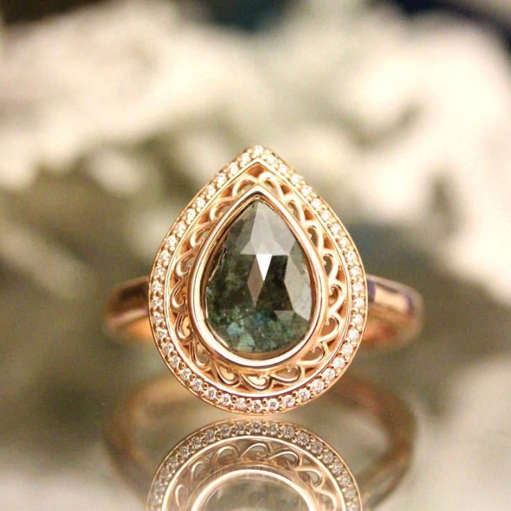 17 best ideas about Non Diamond Engagement Rings on Pinterest | Rose gold  square engagement ring, Peach diamond ring and Silver band wedding rings
