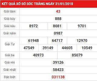 Cùng các cao thủ xem KQXS Sóc Trăng ngày 7-2-2018 chính xác nhất hôm nay ~ Xổ số miền bắc - xổ số miền trung - xổ số miền nam