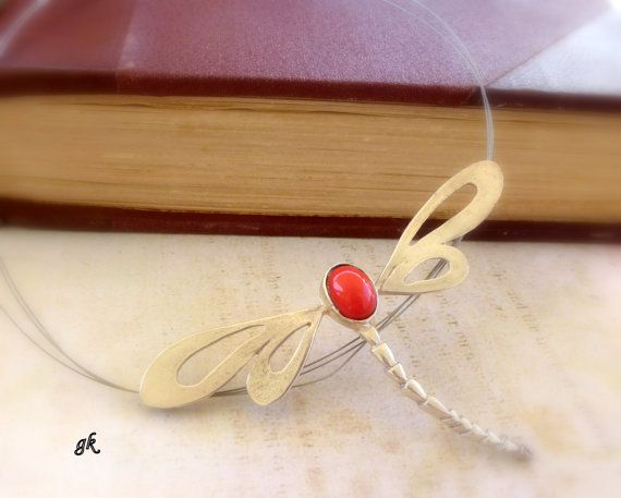 Insect handmade necklace  Silver Dragonfly by GeorgiaCollection, €65.00