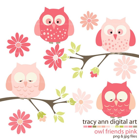 owl clip art in great colors!