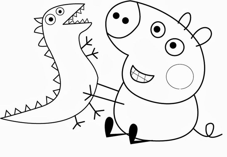 раскраска свинка пеппа - Поиск в Google