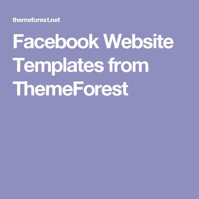 Facebook Website Templates from ThemeForest