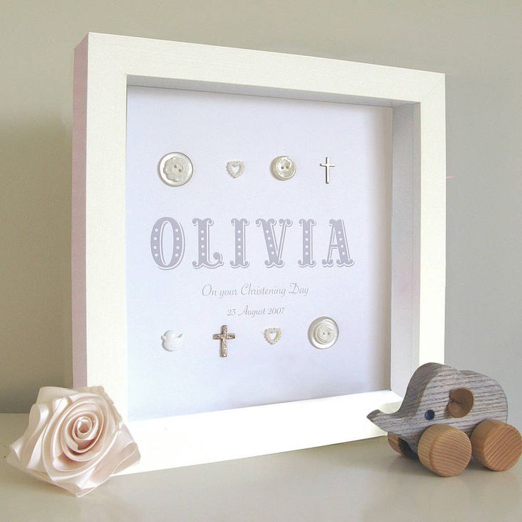 personalised christening name silver crosses by sweet dimple   notonthehighstreet.com