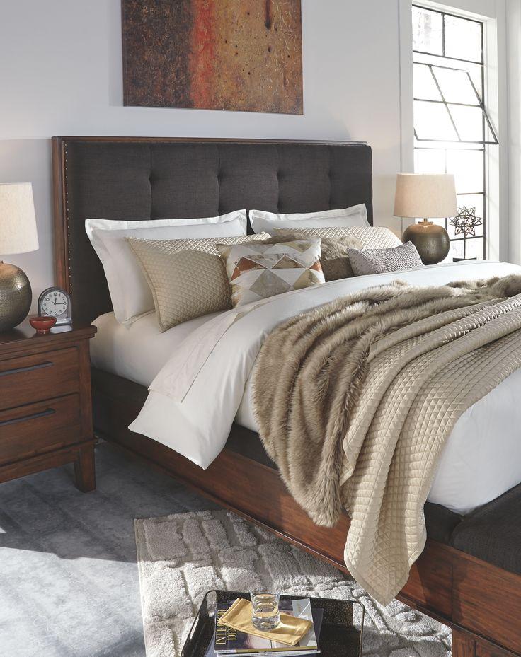 Ralene King Upholstered Panel Bed Bedroom interior, Cozy
