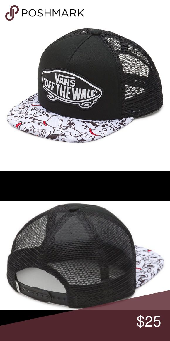 NWOT Vans 101 Dalmatian SnapBack No tags. Brand new, never worn. 101 Dalmatian Vans SnapBack. Limited Disney release. Won't find this in stores anymore. Price firm. Vans Accessories Hats