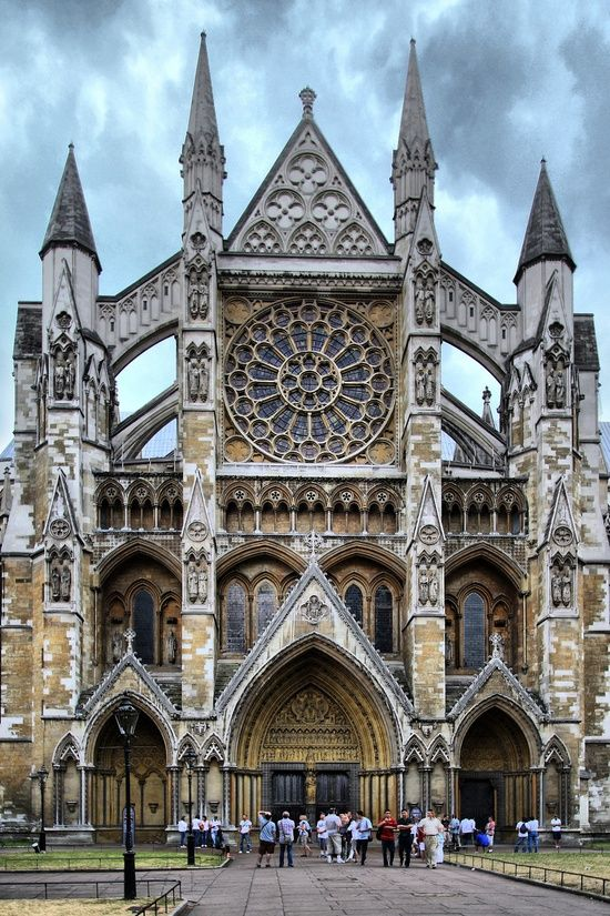 Westminster Abbey, London  -  founded in 960, the abbey has been England's coronation church since 1066  -  the current Gothic church was begun by Henry VII in 1245.  Many of England's notables are buried here but, by his own demand, Shakespeare is not among them.
