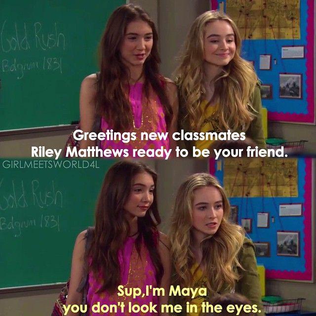 Girl Meets World Quotes Maya And Riley