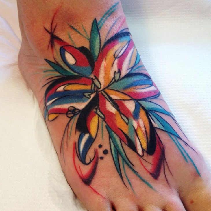 Bright Colorful Tattoos for Women | 21+ Lily Tattoo Designs, Ideas | Design Trends