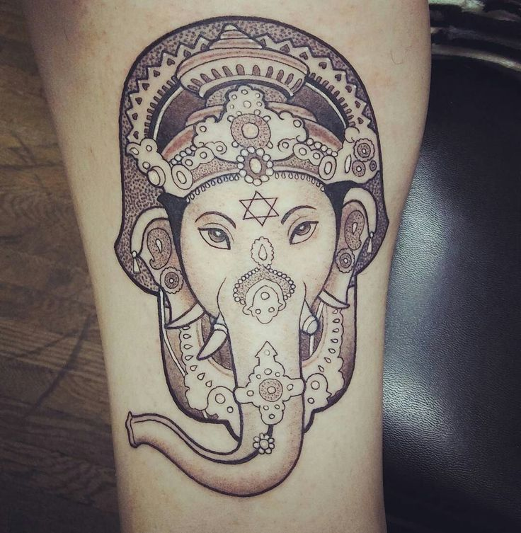 Hamsa Ganesh Star of David Tattoo - This one is mine! Done by Curtis at Blue Geisha Tattoo. Amazing piece of art.