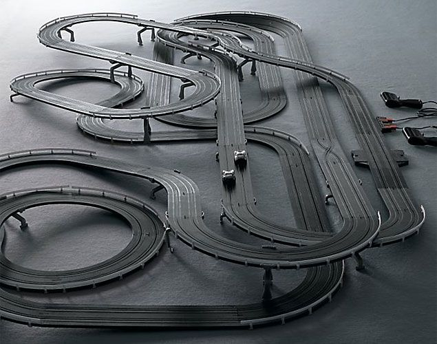 slot car race track....
