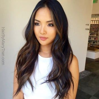 Hairstyles For Long Asian Hair : The 25 best asian highlights ideas on pinterest balayage asian