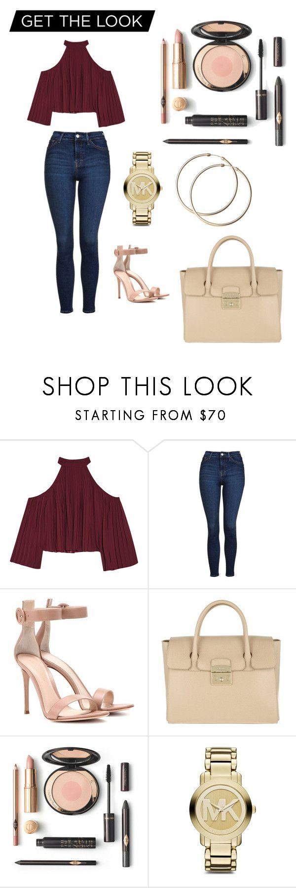 """Sunday outfit🍷"" by nicolemtnez on Polyvore featuring W118 by Walter Baker, Topshop, Gianvito Rossi, Furla y Michael Kors"
