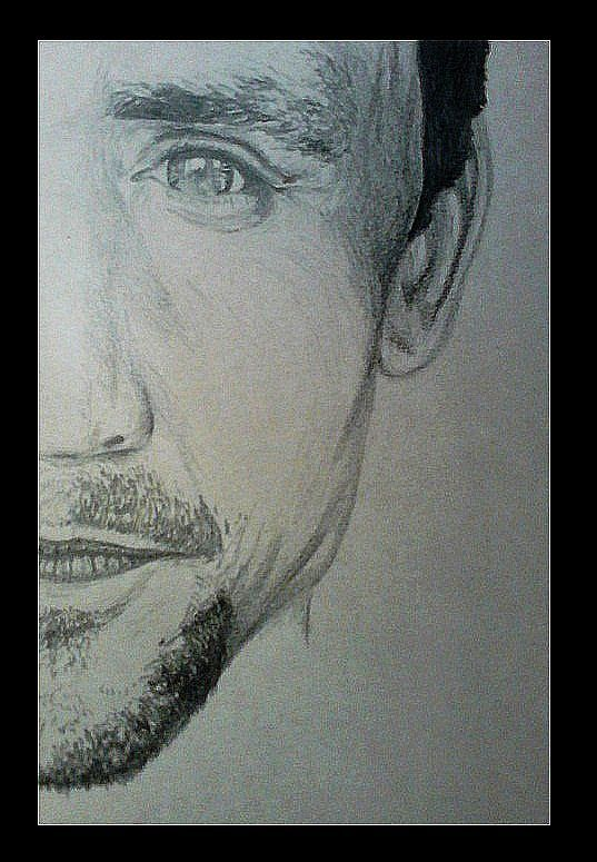 My drawing of Tom Hiddleston.