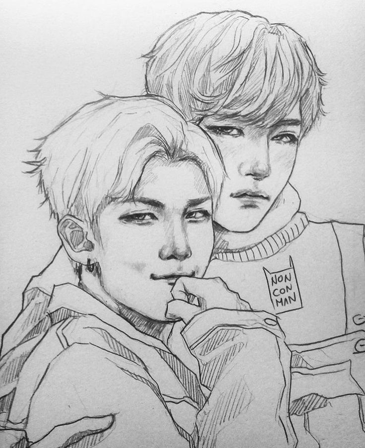 358 Best Bts Drawing Images On Pinterest