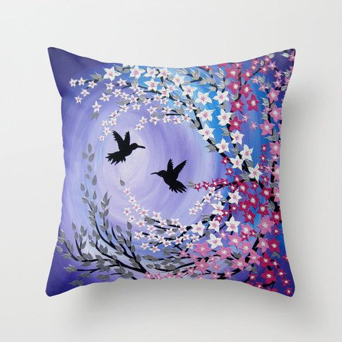 purple throw pillow purple throw pillow case purple by SuchFlair