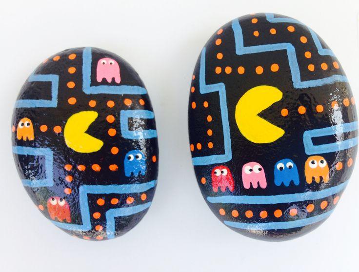 PAC Man!! Painted rocks by Holly N.