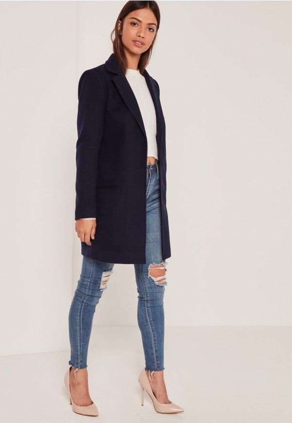 Work the tailored trend to the max in this chic short coat.