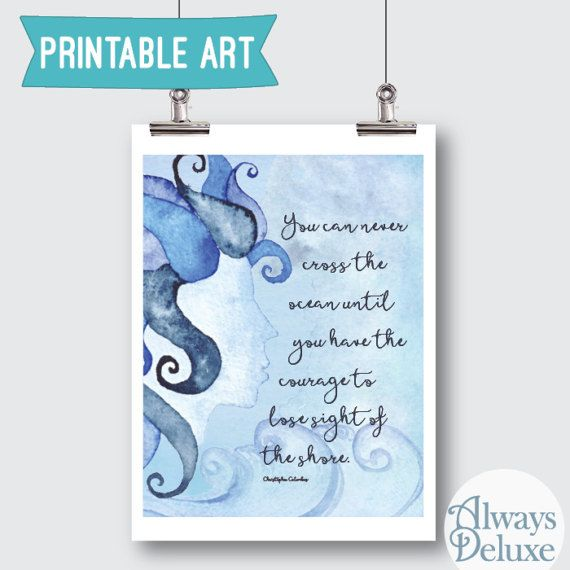 Downloadble Art Cross the Ocean  8x10inches by AlwaysDeluxe