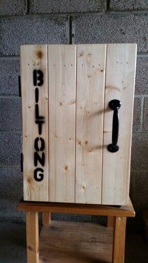 Rustic biltong box