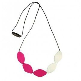 MummaBubba Jewellery - Chewable Teething Necklace -Large Tulip  Pink Hope