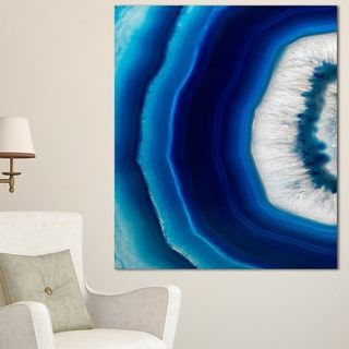 Blue Agate Crystal - Abstract Digital Art Canvas Print   Overstock.com Shopping - The Best Deals on Gallery Wrapped Canvas