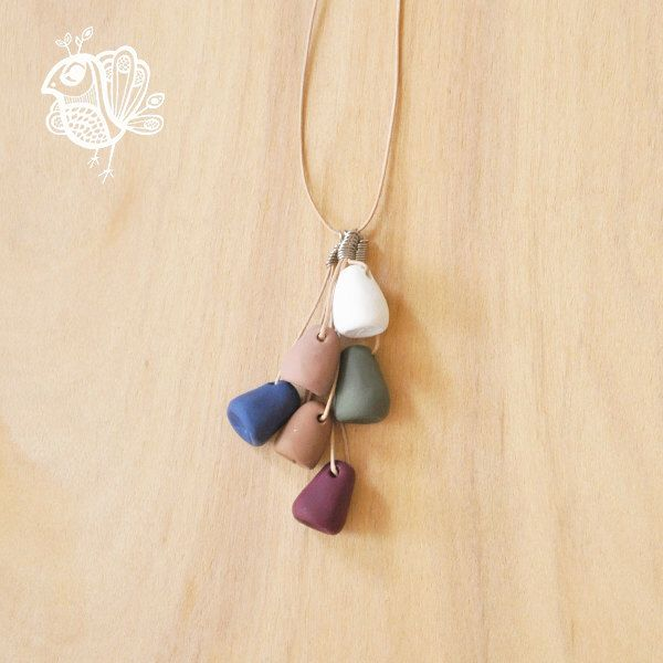 Handmade Polymer Clay Gumnut Necklace - Treetop by ThatWeDo on Etsy (null)