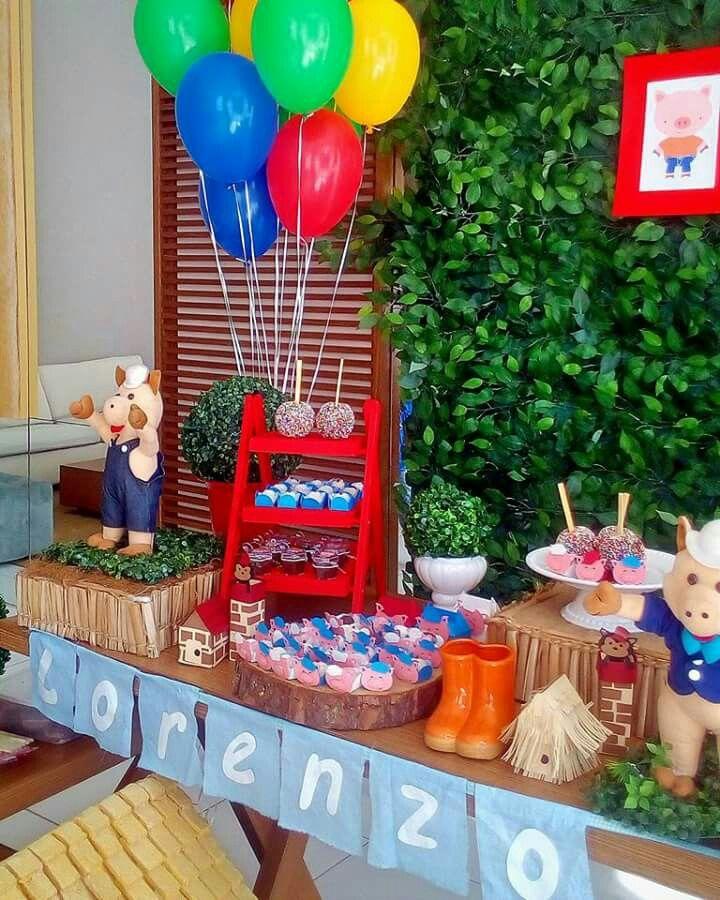 Decoração dos Três Porquinhos #decoraçãodostresporquinhos #festadostresporquinhos #mesadostresporquinhos #tresporquinhos #ostresporquinhos #bethdecora #beth_decora #elisabethschauerte