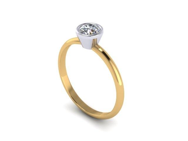 Two toned engagement ring  www.jewellerybyliamross.com