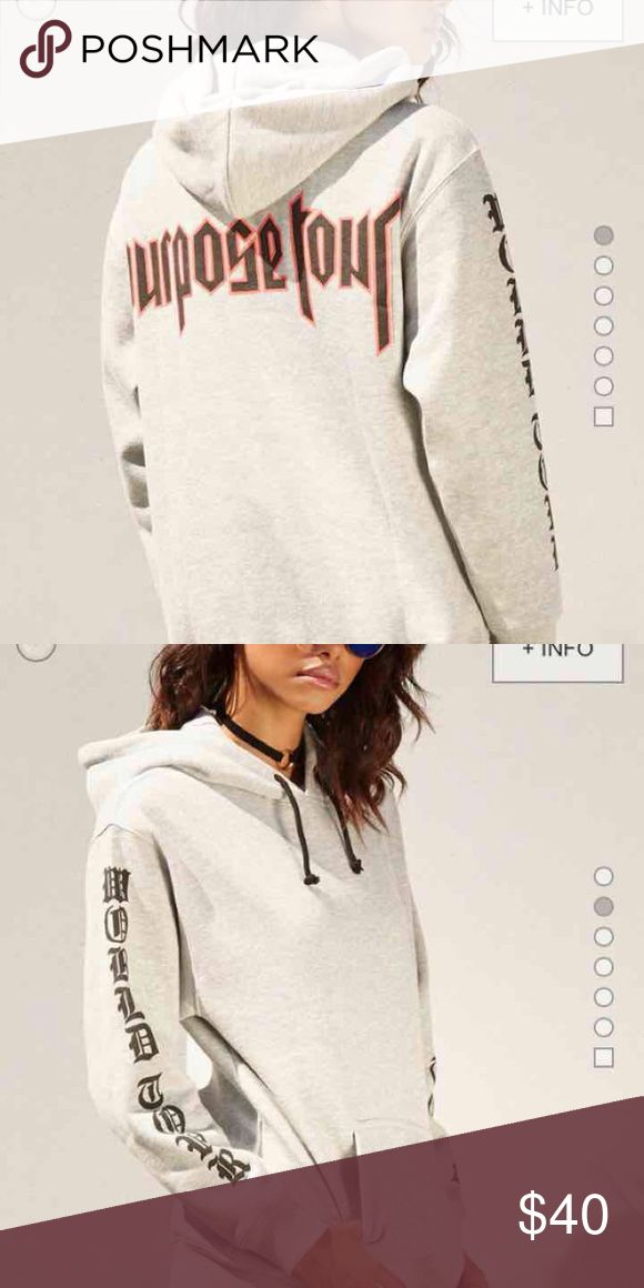 FOREVER 21 x JUSTIN BIEBER HOODIE this medium size hoodie is from the forever 21 x justin bieber purpose tour merch collection, very soft and does run true to size, tags were accidentally ripped off *sold out online and will not go any lower than this* Forever 21 Sweaters