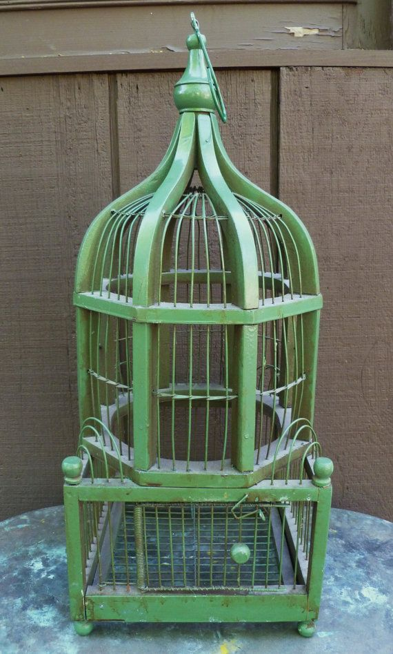 17 best decorative antique bird cages images on pinterest for Cage d oiseau decorative