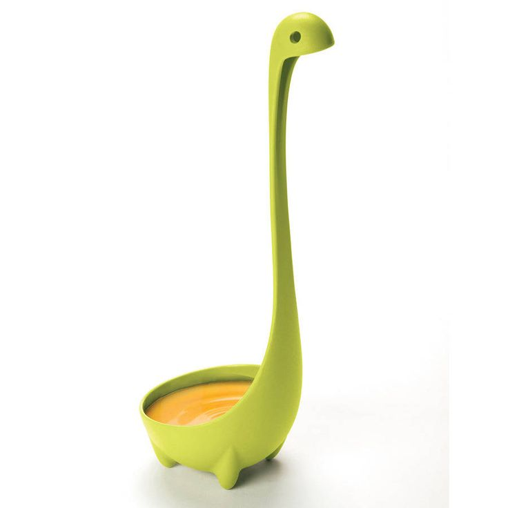 Believe it or not, out of the deep pot comes Nessie but this time she's green!Available in Turquoise and Purple.Ototo are back once again with a cuter than cute kitchen accessory that everyone will love. The Loch Ness Monster might be a legend in Scotland but this Nessie is 100% real and ready to scoop up soup, or dollop out dinner. She even has little feet to keep her upright in pots and pans or on kitchen surfaces.Made from 100% acrylic, Nessie is dishwasher safe (it reminds her of her…